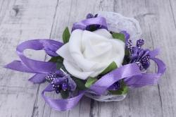 браслет для подружек невесты- фиолетово-сиреневый 28145