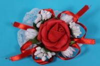 Браслет для подружек невесты - красный с белым