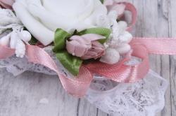 браслет для подружек невесты- кремово-розовый 28144