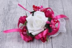 Браслет для подружек невесты- малиновый 28141