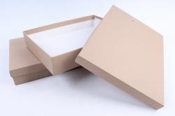 """Брикет коробок из 2 шт """"Прямоугольник КРАФТ"""" 25*35*6см  Пин26-1-К"""