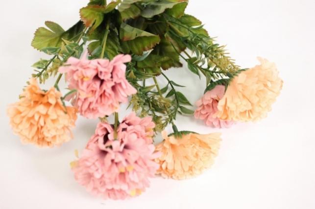 букет цветов гвоздика 30см - бежево/розовая kwy585 2662