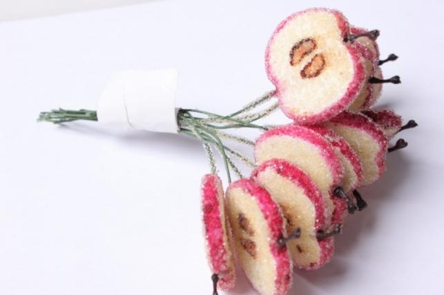 """букет декоративный """"яблочные дольки в сахаре"""""""