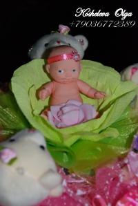 """Букет из игрушек """"С новорожденной"""""""