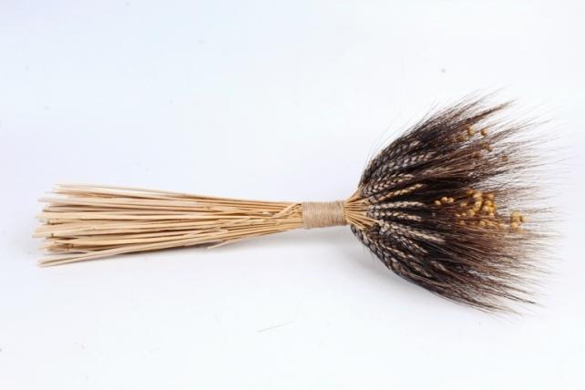 Букет из колосовых культур (чёрная пшеница, лен),