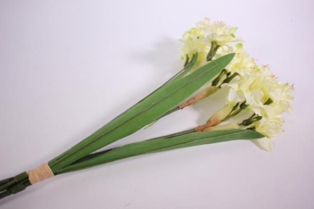 букет нарцис 45 см, белый liu205