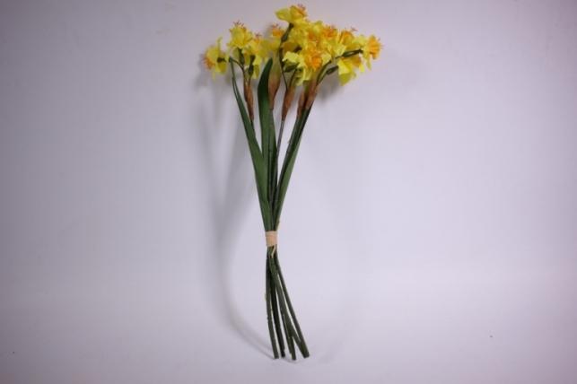 букет нарцис 45 см, желтый liu205