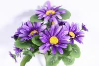 букет ромашек 25 см, фиолетовый sun419