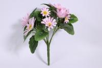 Букет ромашек 25 см, розовый SUN419