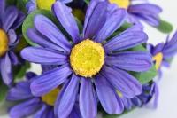 букет ромашек 25 см, синий sun419
