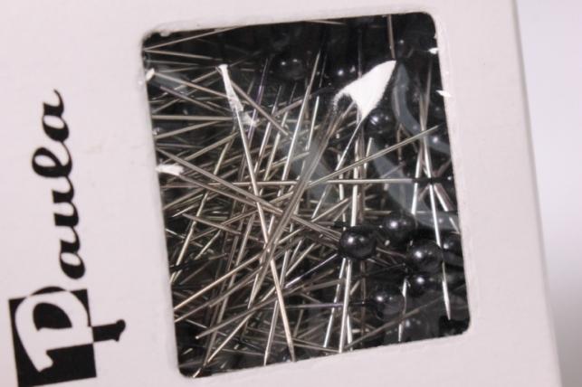 булавка с бусинкой 4мм*40мм черные (144шт) 6787