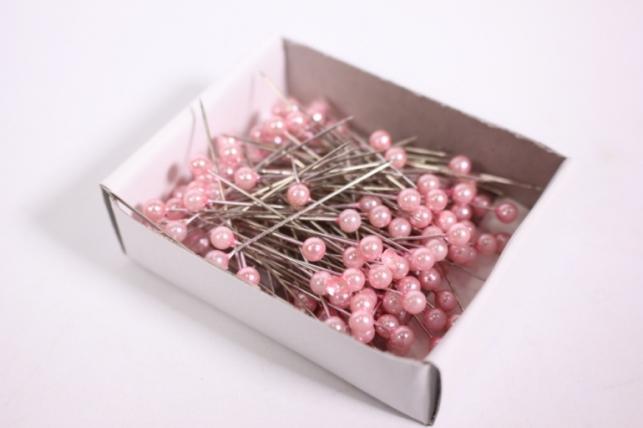 булавка с бусинкой  4мм*40мм розовые (144шт)