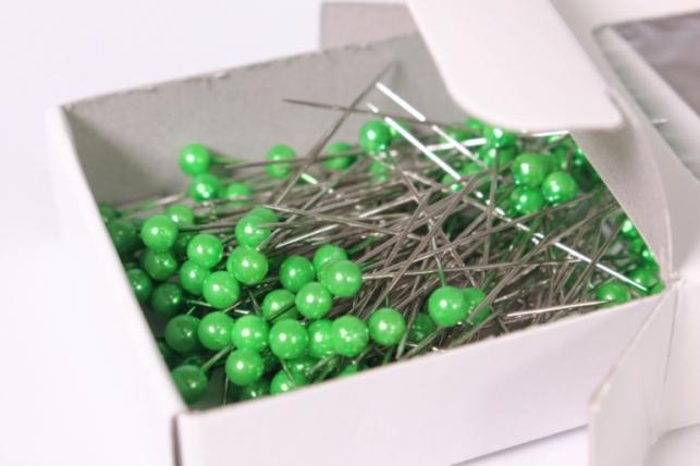 булавка с бусинкой 4мм*40мм зеленый (144шт) 6817