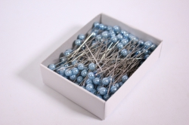 булавка с бусинкой  5,5мм*55мм голубые (144шт)