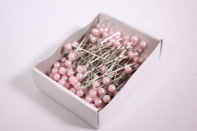 булавка с бусинкой  5,5мм*55мм розовые (144шт)