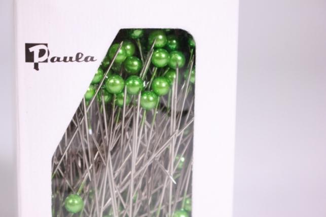 булавка с бусинкой  5,5мм*55мм зеленые (144шт)