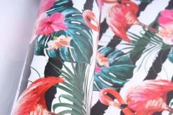 """Бумага 1*70 Дизаенерская бумага """"Фламинго"""" 78г/м2  10шт/уп UNFLM  М"""
