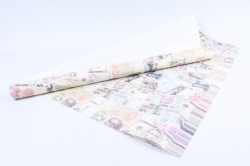 """Бумага 1*70 Дизайнерская бумага """"Деньги"""" 78г/м2  10шт/уп  GP6350"""