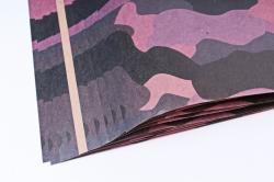 Бумага 1*70 Дизайнерская бумага Хаки Розовый 78г/м2  10шт/уп PinW4 М
