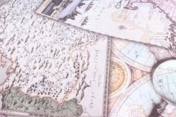 """Бумага 1*70 Дизайнерская бумага """"Карты"""" 78г/м2  10шт/уп  GPMAPS"""
