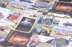 "Бумага 1*70 Дизайнерская бумага ""Машинки ретро"" 78г/м2  10шт/уп PinMR  М"