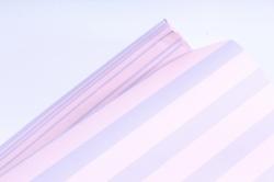 Бумага 1*70 Дизайнерская бумага Полоски Розово-Лиловые 78г/м2  10шт/уп PinPRL  М