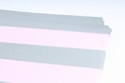 Бумага 1*70 Дизайнерская бумага Полоски Розово-Серые 78г/м2  10шт/уп PinPRG  М