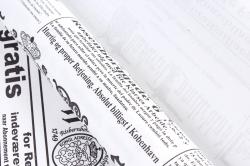 """Бумага (Д) крафт """"PF"""" гладкая ГАЗЕТА ЕВРОПА черный 70см 400гр б/ф  7225"""
