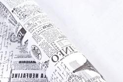 """Бумага (Д) крафт """"PF"""" гладкая ГАЗЕТА ЛОНДОН черная 70см 400гр б/ф  6573"""