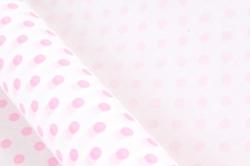 """Бумага Дизайн. БЕЛЫЙ  крафт """"Бисер, розовый""""70смх10м. 40г/м2  Р925  М"""