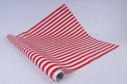 бумага  дизайнерский белый крафт полосы (красный)  40г/м2  р906   м