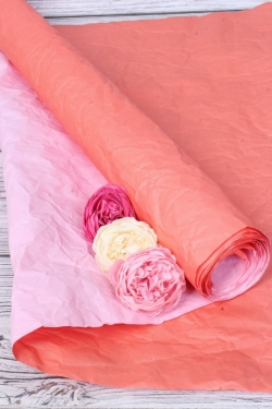 Бумага Эколюкс двухцветная красный/розовый 70см* 5ярдов 4322Н