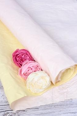 Бумага Эколюкс двухцветная пыльная роза/желтый пастель 70см* 5ярдов 4438Н