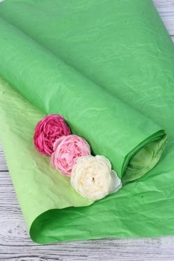 Бумага Эколюкс двухцветная темно-зеленый/салатовый 70см* 5ярдов 4506Н