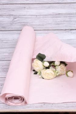 Бумага Эколюкс (Н) однотонный пыльная роза 70см* 5ярдов  4667