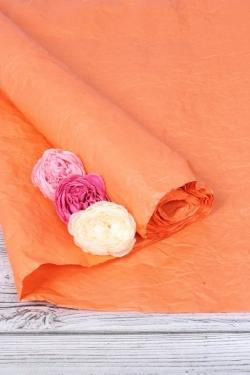 Бумага Эколюкс однотонный оранжевый 70см* 5ярдов 4643Н