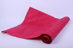 Бумага жатая 70см*5 ярд Тёмно-красный (07)