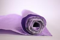 бумага жатая, однотонная, 70-75см/5я (сиреневый, 497)