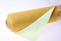 Бумага жатая водостойкая для цветов 2х-цветная 50х10м - Жёлтый-шампань