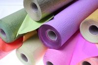 бумага жатая водостойкая для цветов 2х-цветная 50х10м - красный-персиковый