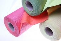 бумага жатая водостойкая для цветов 2х-цветная 50х10м - лосось-персиковый