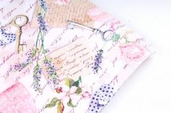 Бумага ГЛЯНЕЦ 100/381 Любовь и цветы (68*98см) (10листов)