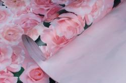 Бумага ГЛЯНЕЦ  01/001 Нежные розы 68*98см (10 листов)