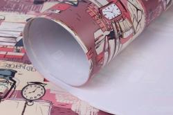 бумага глянец  01/007 библиотека  68*98см (10 листов)