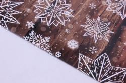 бумага  глянец  01/х004  нов. год. морозное на тёплом 100*70см (10 листов)