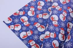 бумага  глянец 100/222 нов. год снеговики   0,7*1м в лист. (10 лист.)