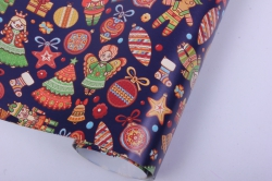 бумага  глянец 100/227 нов. год новогоднее печенье  0,7*1м в лист. (10 лист.)