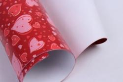 бумага  глянец 100/455 сезон сердец 0,7*1м (10 лист.)