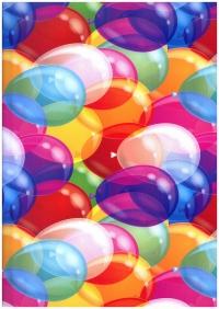 """Бумага ГЛЯНЕЦ 100/801 """"Воздушные шары"""" 0,7х1м 31802 (10 лист.)"""