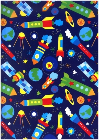 Бумага ГЛЯНЕЦ 100/802 Караваны ракет 0,7х1м 32002 (10 лист.)
